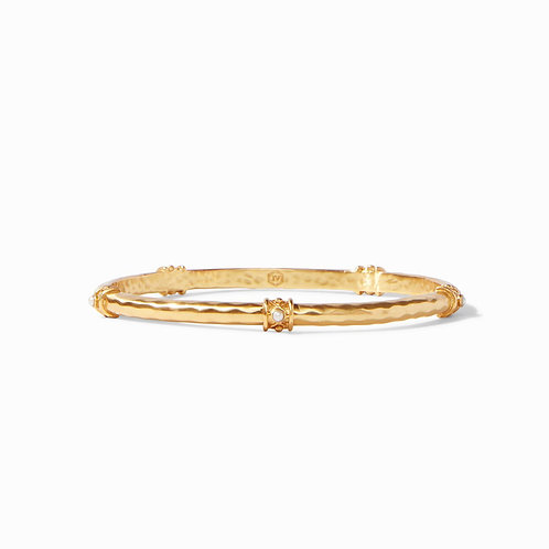 Julie Vos Savannah Stone Bangle Pearl