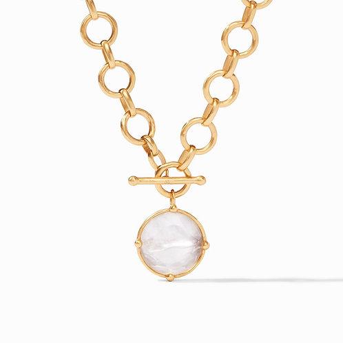Julie Vos Honeybee Statement Necklace Gold Iridescent Clear Crystal