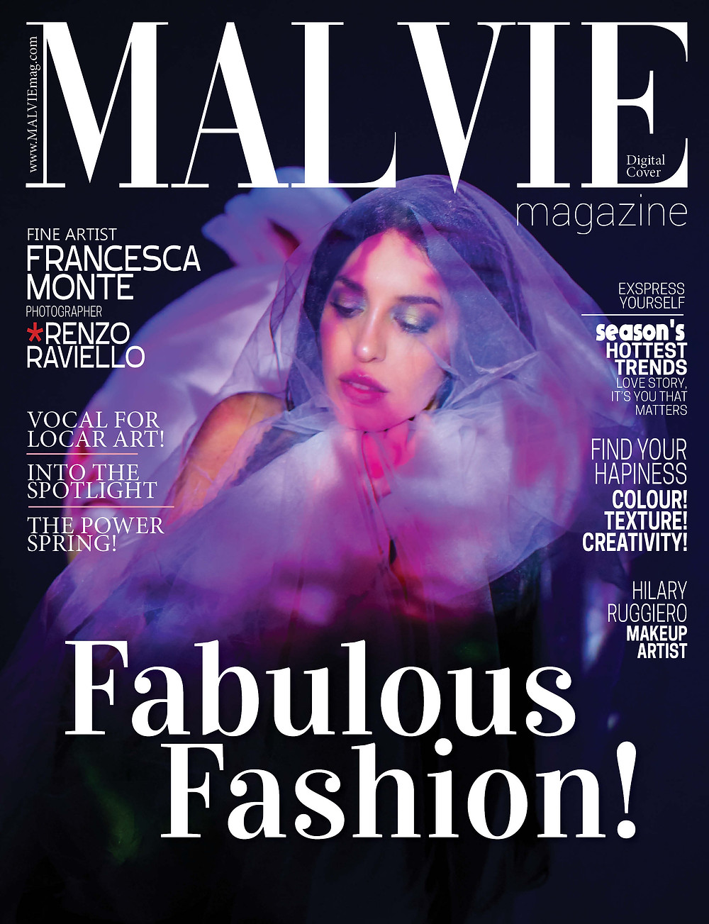 Fine Artist: Francesca Monte  Photographer: Renzo Raviello   Makeup Artist: Hilary Ruggiero  Wardrobe Stylist: Francesca Monte