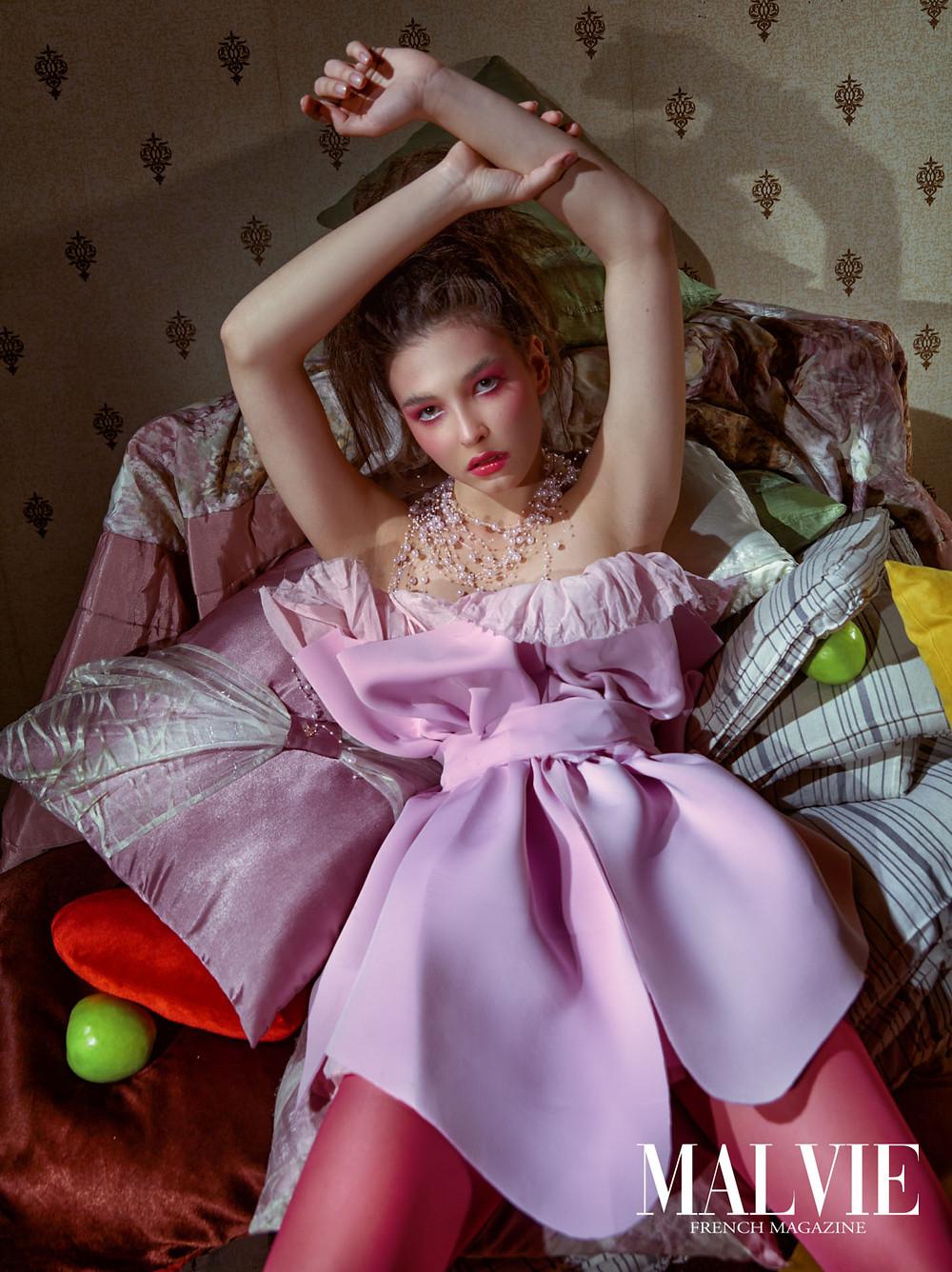 Fashion Designer/Makeup Artist/Accessory Designer/Hair Stylist: Tcurikova Tatyana Photographer: Pogorelov Alexandr Model: Karina Yarkova