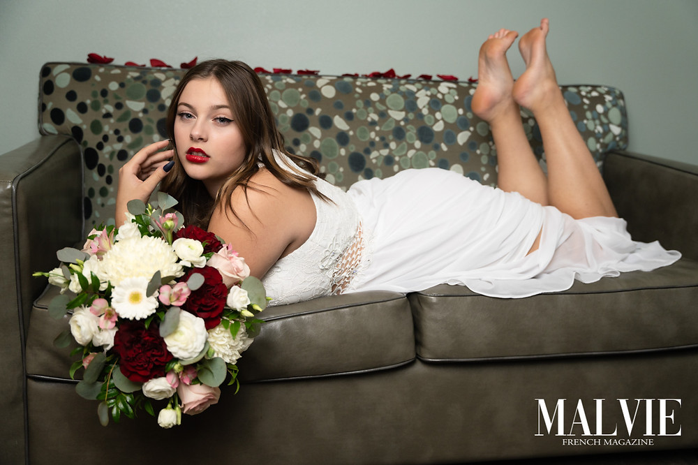 Model: Trinity Morgan Photographer: Valentin Medina Accessory Designer: M&M Floral