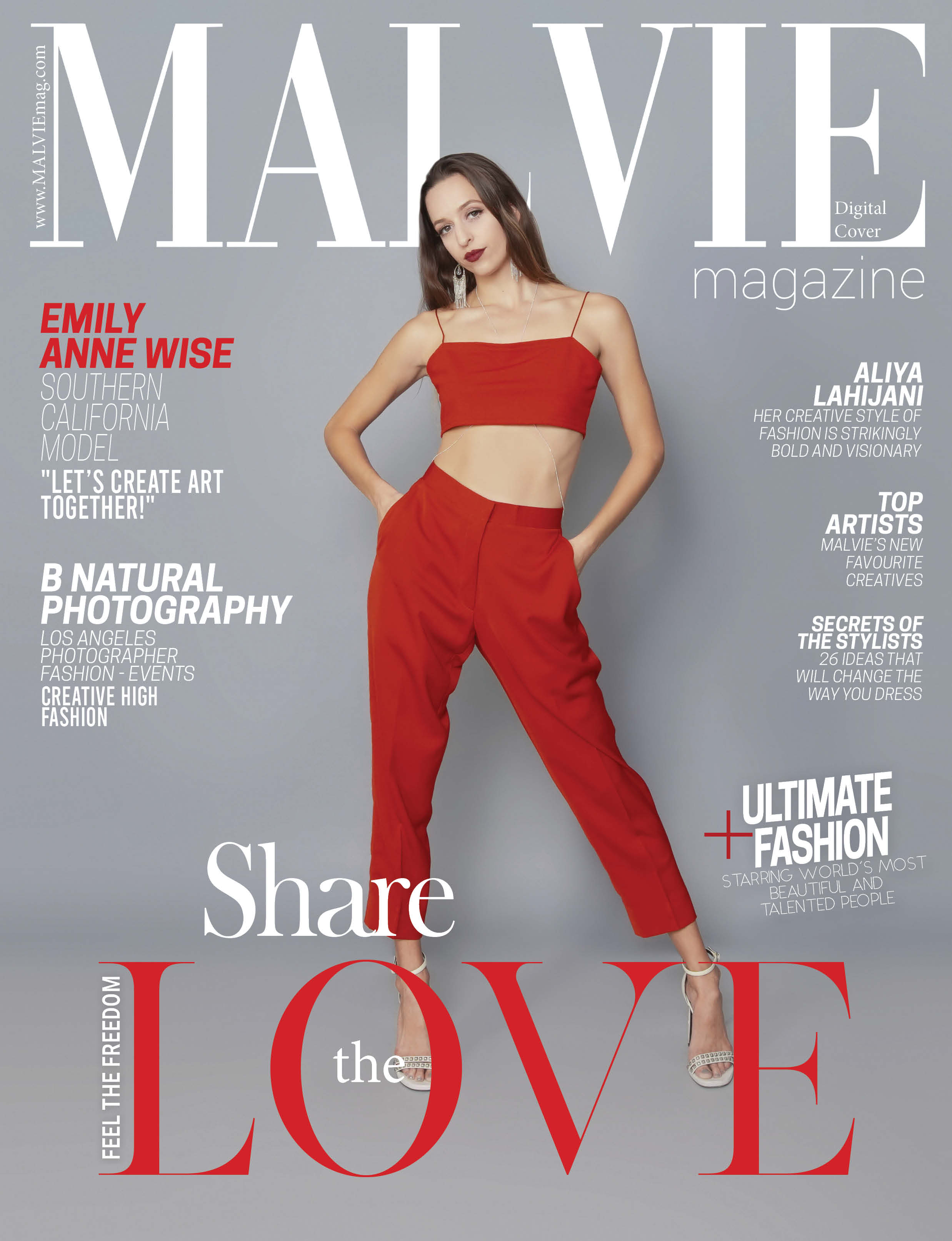 Creative Edgy High Fashion! Digital Cover MALVIE French Magazine
