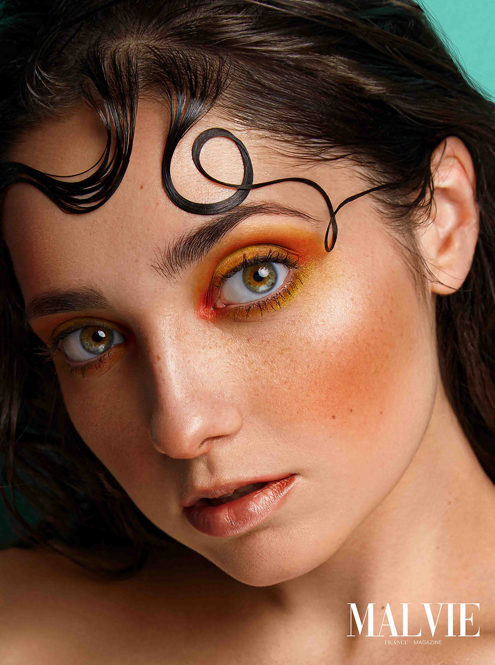 MALVIE Magazine Editorial - The September ISSUE Beauty Shooting photographed by Borys Zazimko