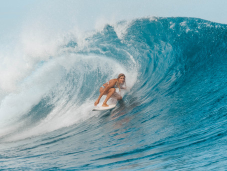 Catching up with Zala Cuden on surfing and life in the tropics.