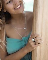 Surf girl jewellery rings