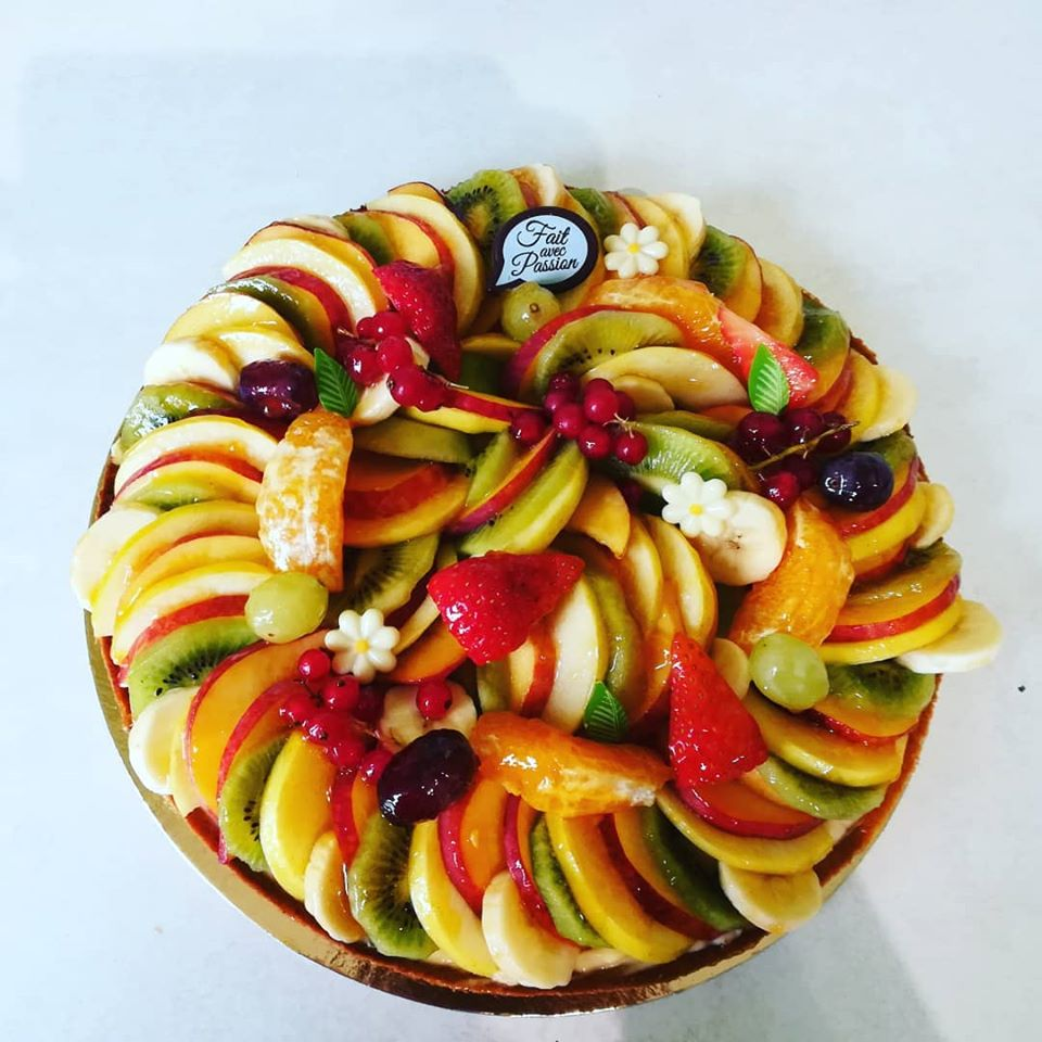 Tarte aux fruits.