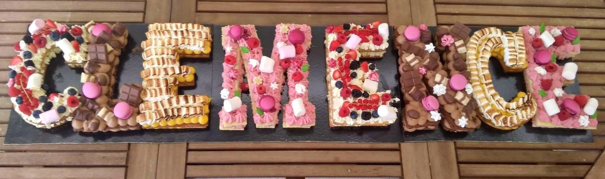 Letter cake.
