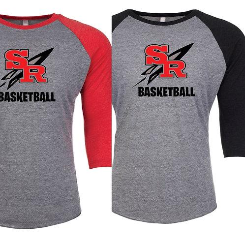 Rockets Basketball 3/4 Raglan (unisex)