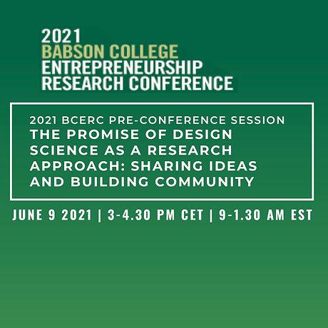 2021 BCERC Pre-conference Session The Pr
