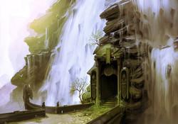 Waterfall doorway