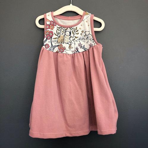 The Pocket Dress - Pink Kitty