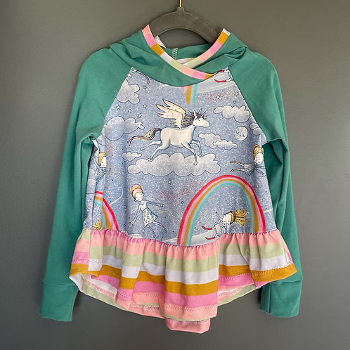 Whimsy Hoodie - blue unicorn