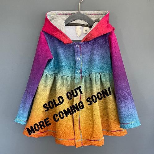 Ruffled rainbow cardigan Size 5/6