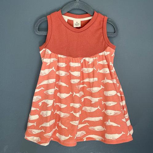 Peachy Whale grow with me Pocket Dress