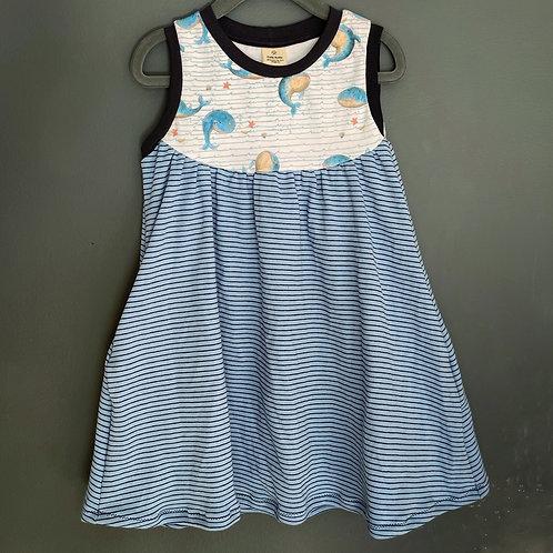 Whale grow with me Pocket Dress