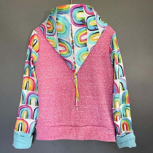 Custom order rainbow hoodie size 3/4