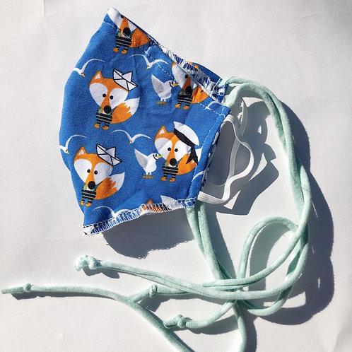 Childrens Face Mask sailor Fox 🦊