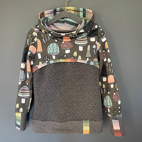 Mushroom hoodie size 3/4 T