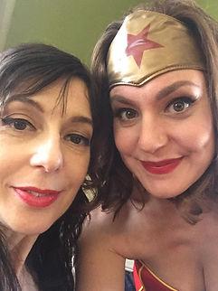 Actress Eden Young with Actress Katie Cu