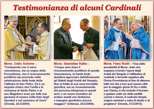 Testimonianza di alcuni Cardinali su il fondatore degli Araldi del Vangelo