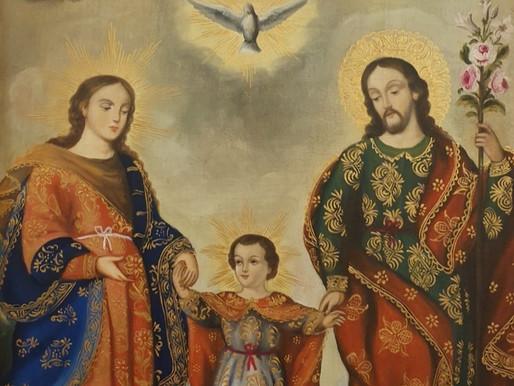 Gesù, Maria e Giuseppe, protettori e modelli delle famiglie.
