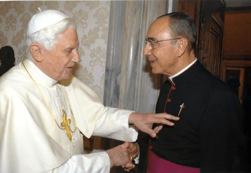 Benedetto XVI e il fondatore degli Araldi del Vangelo