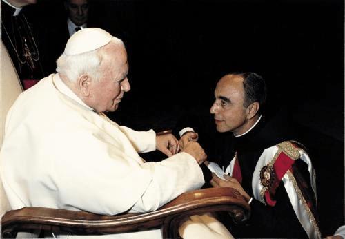 San Giovanni Paolo II e Mons. João Scognamiglio Clá Dias.