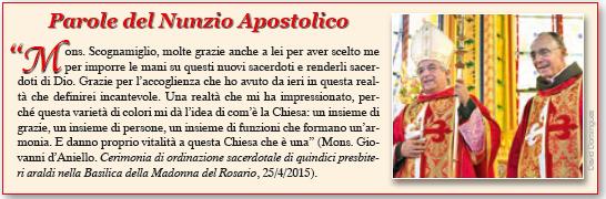 Parole del Nunzio Apostolico su Mons. João S. Clá Dias