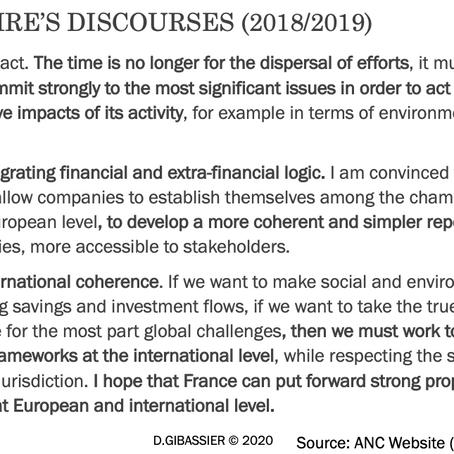 Quel standard international pour le reporting non-financier?