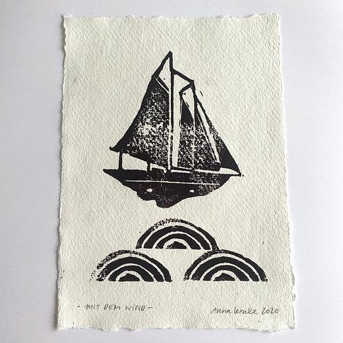 Mit dem Wind - Original Print