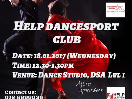 HELP DanceSport Club Starting their First Class Today!