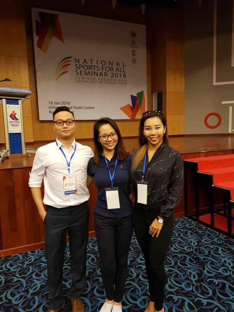 From Left: Alfred Kong (SDSA), Fong Chai Lee (KLDSA), Lee Yin Ying (SDSA)