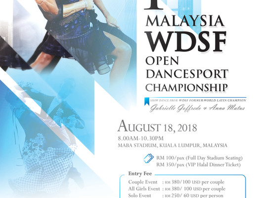 NEWS | 1st Malaysia WDSF Open DanceSport Championship is Official!