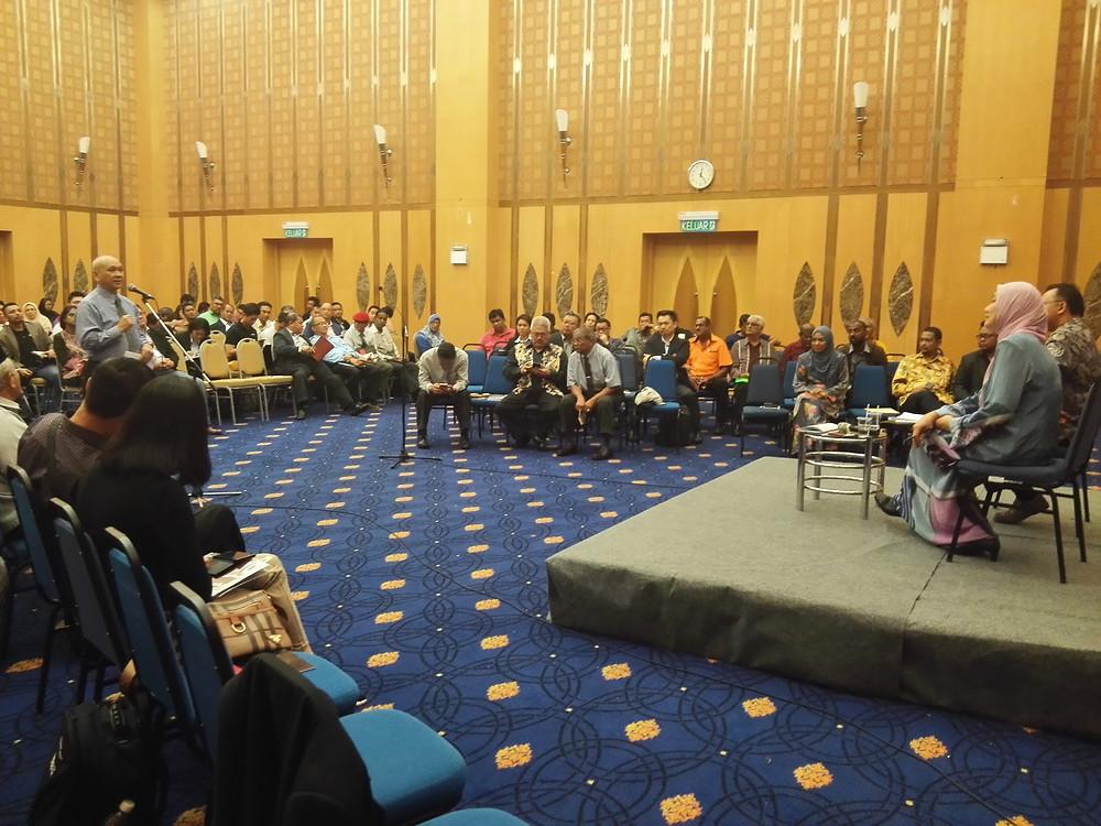 Mr. Chua Kian Hong addressing his questions and concerns