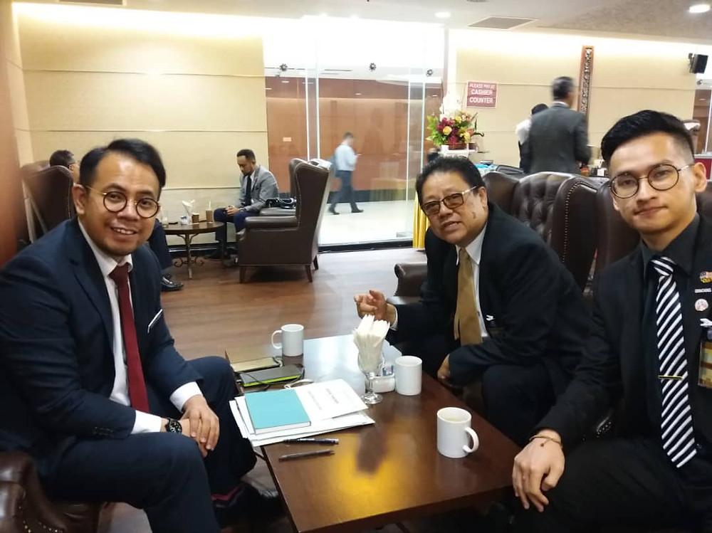 From left: YB Steven Sim, John Fam, Chua Zjen Fong