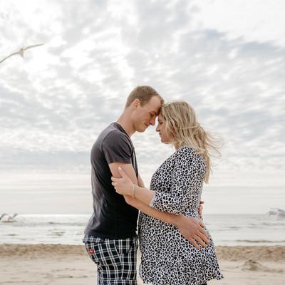 Zwangerschap fotoshoot - Bloemendaal aan Zee