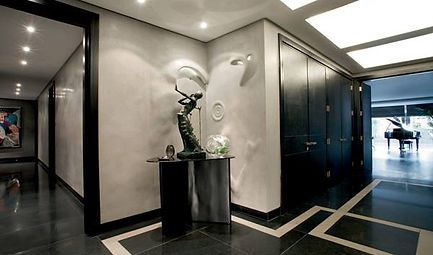 Hallway with Bespoke lighting in Plaster work