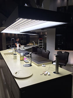 Custom made light for kitchen