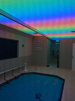 Rainbow sensory pool room