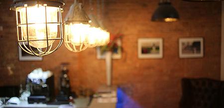 Edison lighting for bar