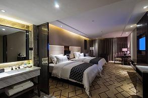 Large hotel bedroom