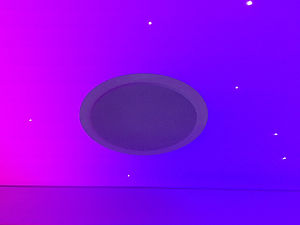Speakers in stretch ceiling