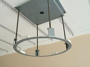 Speaker brackets for Stretch ceiling