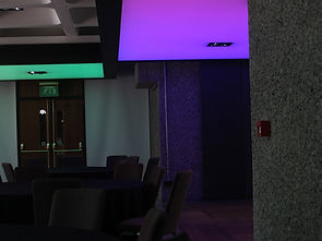 Barbican coloured ceilings