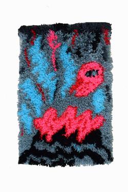 1. anudado en lana sintética