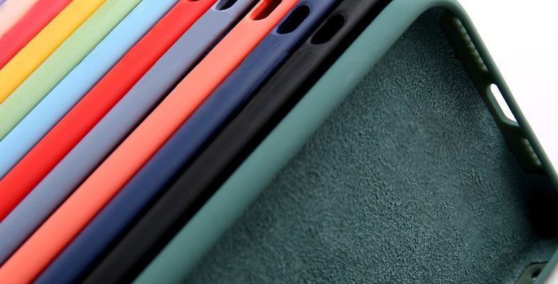 Original Liquid Silicone Luxury Case for Apple iPhone 11 12 Pro Max