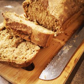 לחם מקמח מלא ללא לישה והתפחה