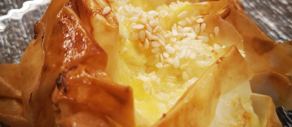 סדנה להכנת בורקס פילו גבינה בסגנון יווני