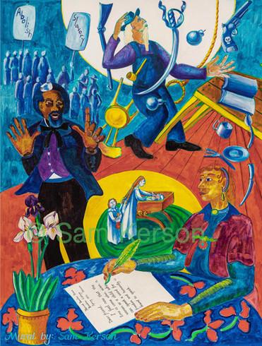 John Brown, Frederick Douglass and Harriet Tubman