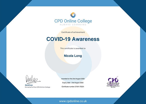 COVID-19 Awareness Certificate